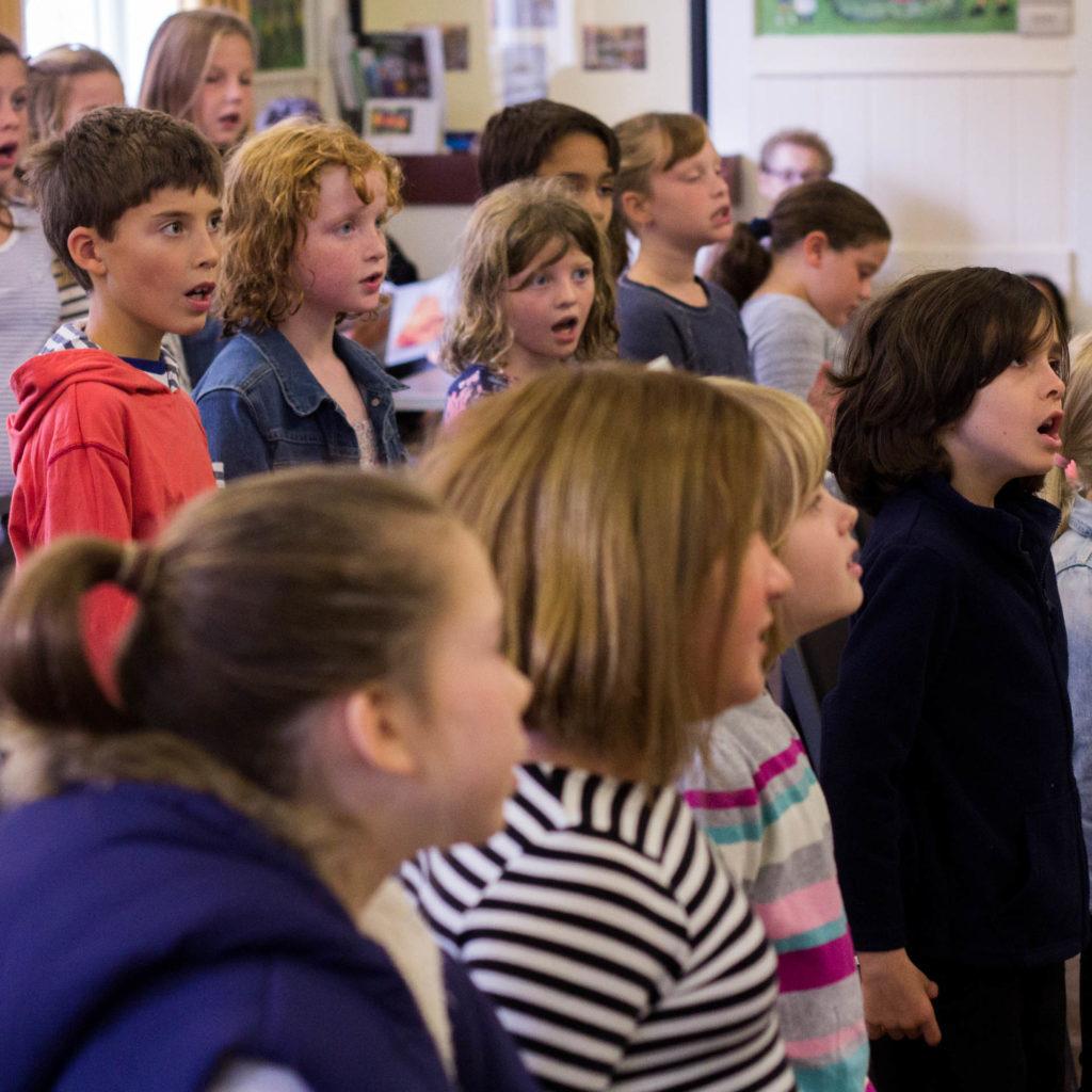 Taplow Children's Choir in rehearsal